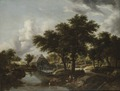 Wooded Landscape with a Watermill (Meindert Hobbema) - Nationalmuseum - 23790.tif