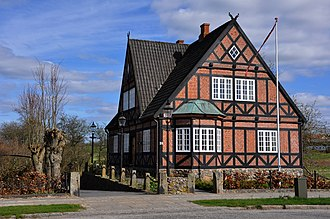 Christiansfeld - Image: Woodframed house near Christiansfeld