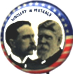 Henry B. Metcalf - Woolley and Metcalf button, 1900