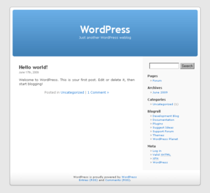 wordpress screenshot from wikipedia