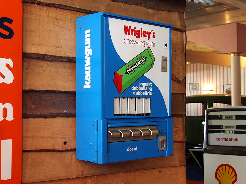 File:Wringley's chewing gum vending machine.JPG