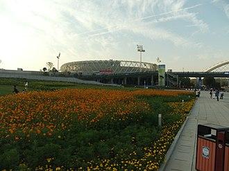 Optics Valley International Tennis Center - Image: Wuhan SE DSCF1122 Olympics Sports Center