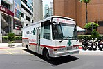 X-Ray Scanner Truck Leaving Carpark of First Financial Holding Headquarters 20160722a.jpg