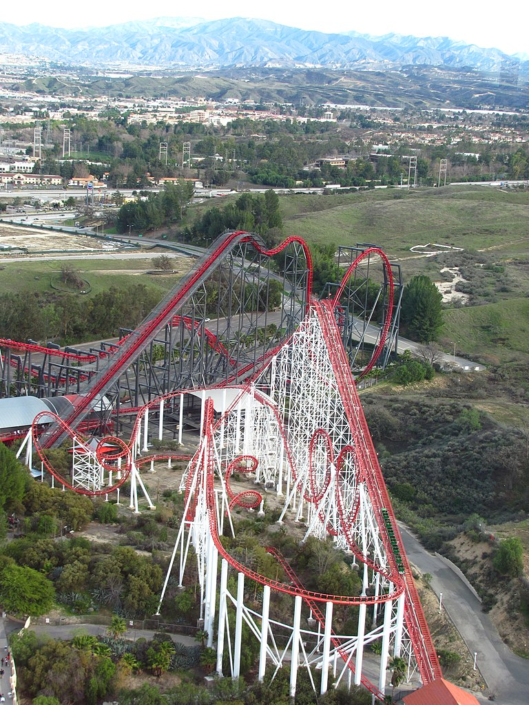 File:X2 and Viper at Six Flags Magic Mountain 1.jpg ...
