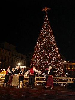 Χριστουγεννιάτικοι νησιώτικοι χοροί (Πλατεία Κοτζιά Αθήνα 2006)