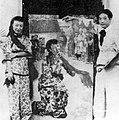 Xu Beihong, Wang Ying, and painting.jpg
