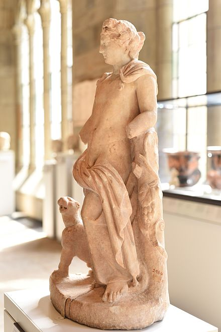 Hellenistic period. Sculpture of Dionysus from the Ancient Art Collection at Yale.