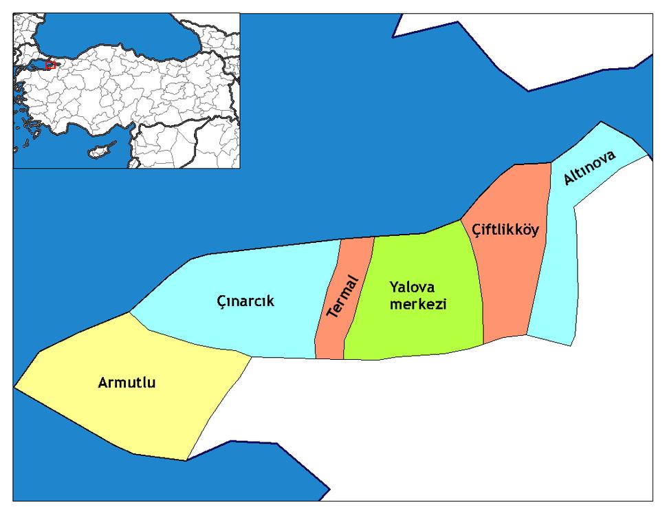 Yalova districts
