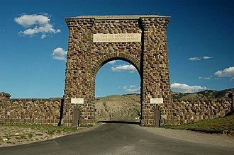 North Entrance Road Historic District - Image: Yellowstonenorth