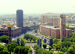 Yerevan city hall, vodka & brandy factory.jpg