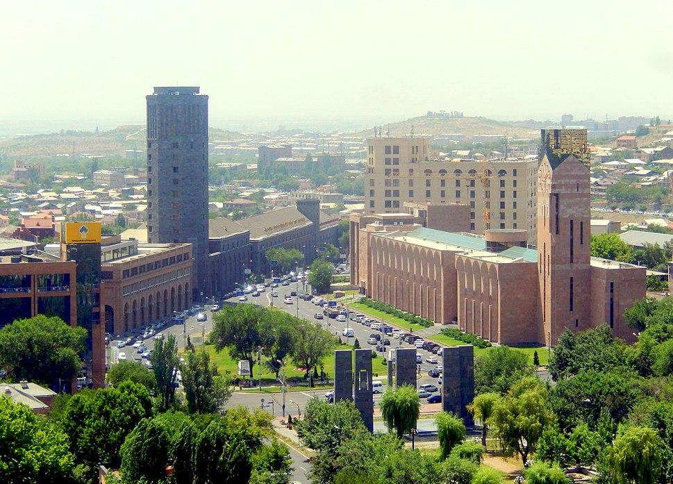 Yerevan city hall, vodka %26 brandy factory