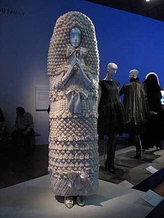 Yves Saint Laurent (designer) - Yves Saint Laurent haute couture knitted wedding dress, 1965