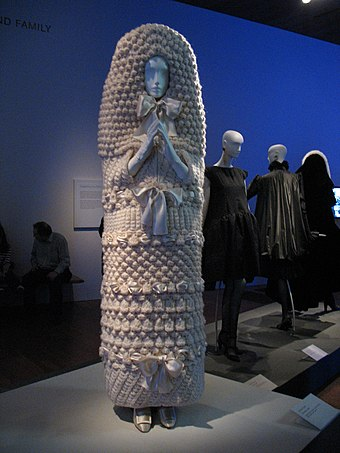 Yves Saint Laurent haute couture knitted wedding dress, 1965 Yves Saint Laurent vintage knit dress deYoung Museum.jpg