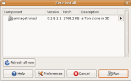 Screenshot di Zero Install