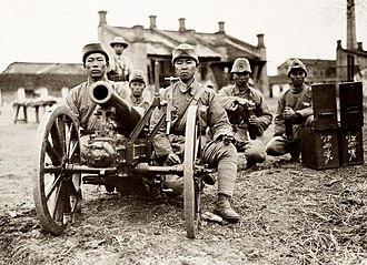 Fengtian clique - Zhang Zongchang's commanding Zhili-Lu allied army artillery.