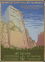 1938 poster of Zion National Park