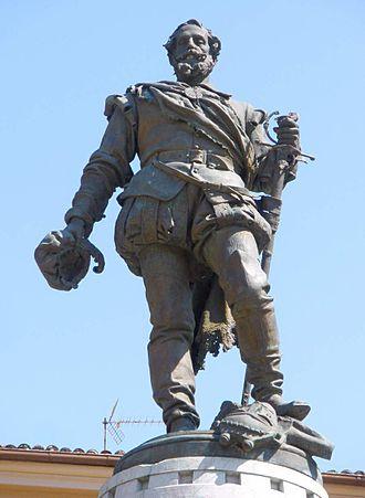 Miguel López de Legazpi - Image: Zumarraga Plaza de Euskadi, monumento a Legazpi 2