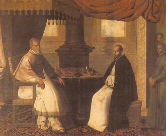 Bruno (bishop of Segni) - Oil on canvas c. 1630 - St. Bruno and Pope Urban II.