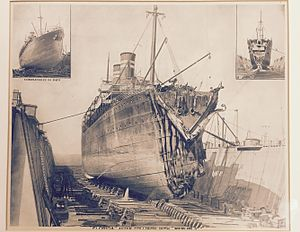 "RMS Republic (1903) - Image: ""Florida"" After Collision with ""Republic"""