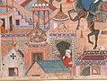 """The Spy Zambur Brings Mahiya to the City of Tawariq"", Folio from a Hamzanama (Book of Hamza) MET sf23-264-1e.jpg"