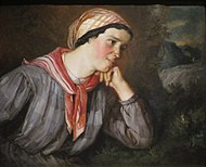 'Peasant Girl with a Scarf' by Gustave Courbet, Norton Simon Museum.JPG