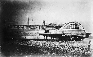 SS Princess Alice (1865) - Part of Princess Alice beached after the disaster