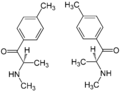 (±)-Mephedrone Enantiomers Structural Formulae.png
