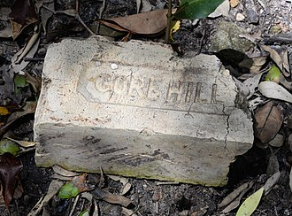Gore Hill, New South Wales - Gore Hill brick found at Buffalo Creek, Hunters Hill