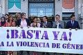 (Foto de grupo) El alcalde condena el último asesinato por violencia de género en la ciudad de Madrid 03.jpg