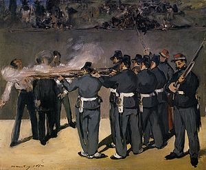 The Execution of Emperor Maximilian - The Execution of Emperor Maximilian (1867), oil on canvas, 48 x 58 cm. Ny Carlsberg Glyptothek, Copenhagen