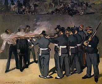 The Execution of Emperor Maximilian - The Execution of Emperor Maximilian (1867), oil on canvas, 48 x 58 cm. Ny Carlsberg Glyptothek, Copenhagen