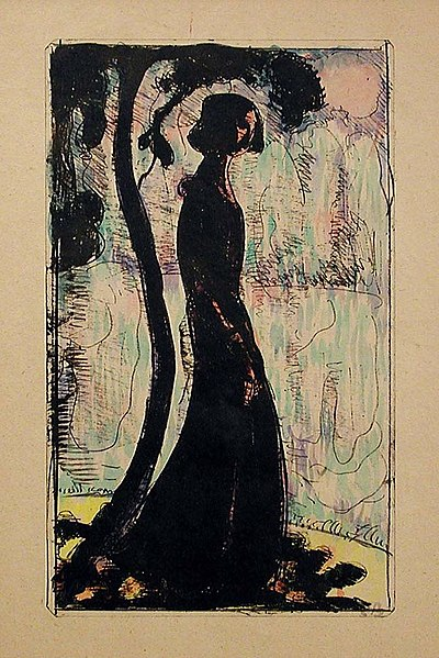 Solitude. Zincograph with hand-coloring Indianapolis Museum of Art, accession number 1998.209