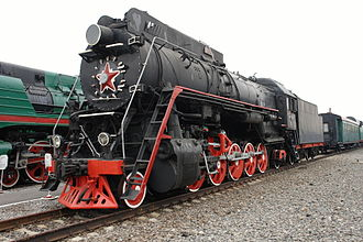 Russian locomotive class LV - Locomotive LV18-002 at the St. Petersburg Railway Museum at Warsaw Station