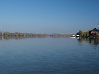 Banoštor - A river ferry on the Danube river in Banoštor.