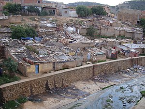 Saïda, Algeria - Image: حي قصديري بمحاذاة واد ملوث