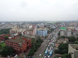 Tejgaon Thana - A sky view of Farmgate to Bijoy Sarani
