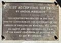 """Christ Accepting His Cross"" sculpture by Andor Mészáros, Brisbane 01.jpg"