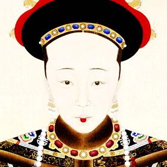 Empress Xiaomucheng - Image: 《孝穆成皇后朝服像》局部