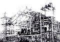 長野県辰野町・再建中の辰野劇場 1921年.jpg
