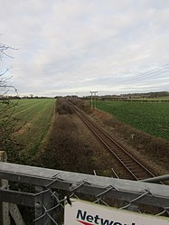 -2018-12-30 Bittern Line viewed fro the Footpath to Northrepps from Crossdale Street (1).JPG