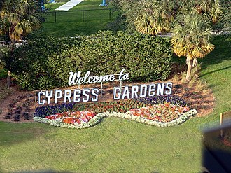 Cypress Gardens - Sign for Cypress Gardens