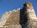 015 Castell de Montsoriu, mur sud-oest i torre sud.jpg