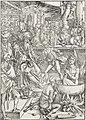 02. Albrecht Dürer, Apokalypsa, Úvodní list – Martyrium sv. Jana Evangelisty, Národní galerie v Praze.jpg