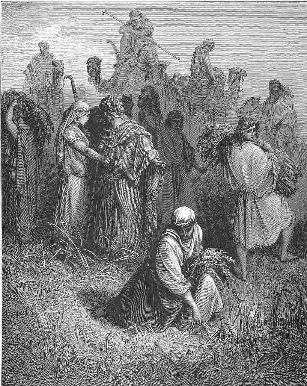 보아스와 룻 (귀스타브 도레, Gustave Doré, 1866년)