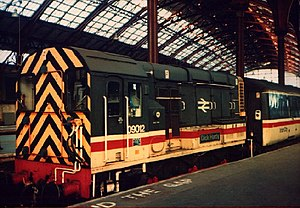British Rail Class 09 - 09012 at Brighton station, early 1990's