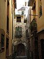 091 Carrer de Sant Joan (Monistrol de Montserrat), al fons Can Cavaller.JPG