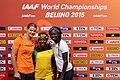 100 m women podium Beijing 2015.jpg