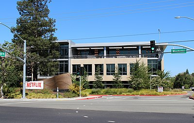 Netflix's Los Gatos headquarters expansion campus at 90 to 160 Albright Way (Building G, 101 Albright Way). 101 Albright Way.jpg