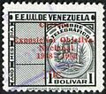 10c on 1b postal overprint on telegraph stamp of Venezuela.jpg