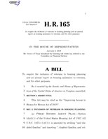 116th United States Congress H. R. 0000165 (1st session) - Improving Access to Homes for Heroes Act of 2019.pdf